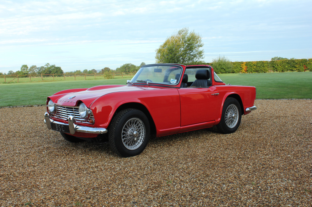 for sale 1964 triumph tr4 sold bicester sports classics. Black Bedroom Furniture Sets. Home Design Ideas
